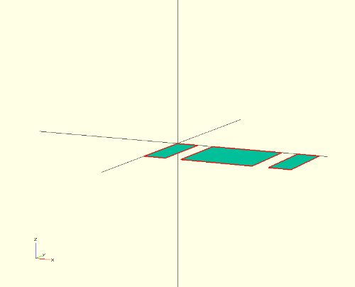 block sliced and rotated
