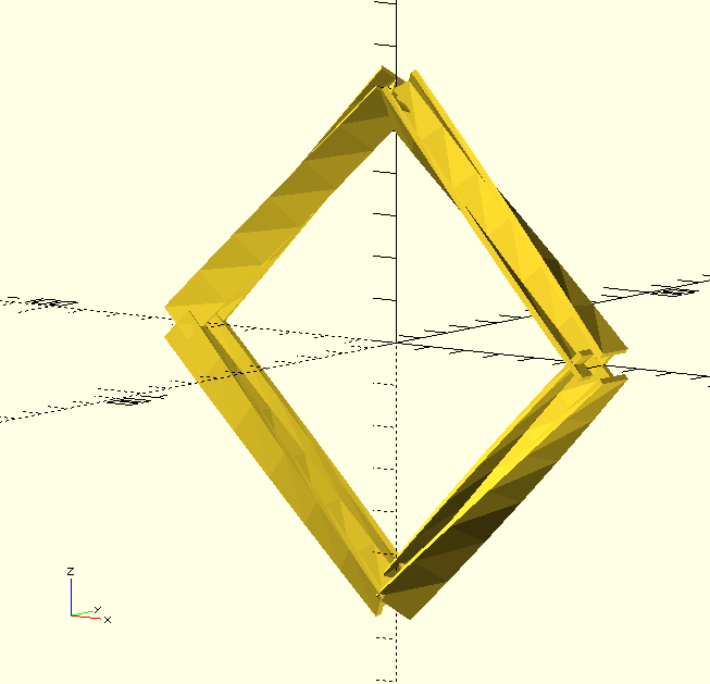 OpenSCAD - general extrusion (imperfect)