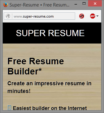 how is the super resume popup at nabble getting past ublock firefox