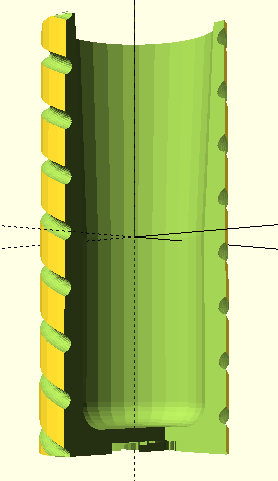 OpenSCAD - how to make the groove more width?